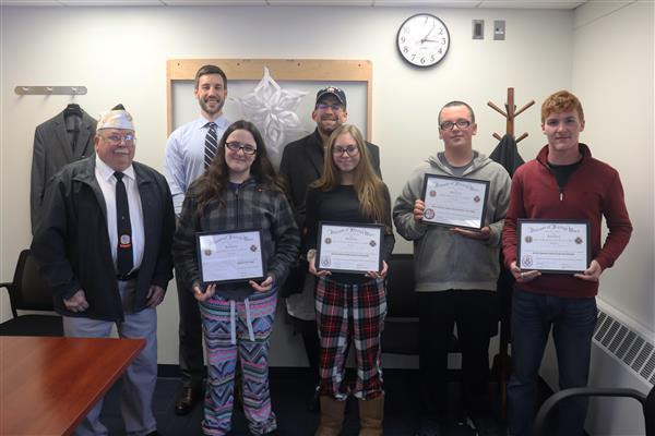 Four Honored by Parish VFW in Essay Contest