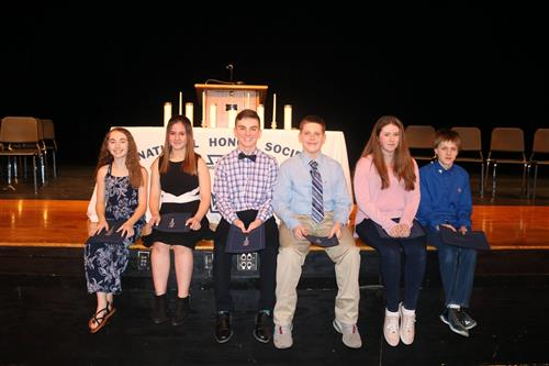 Six students were inducted into the Altmar-Parish-Williamstown Central School District National Junior Honor Society recently